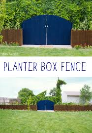 planter boxes that also act as a fence