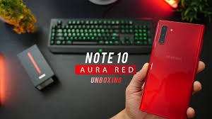 Samsung Note 3 Red Light Galaxy Note 10 Aura Red Unboxing Color Review First Impressions