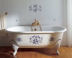 1 2 cast iron bath bathtub in bathroom