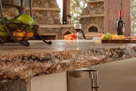 rough natural granite edge