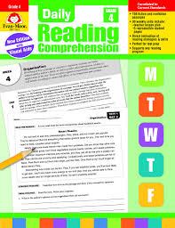 Worksheets that are designed for the 4th grade level for english language arts students. Amazon Com Daily Reading Comprehension Grade 4 9781629384771 Evan Moor Books