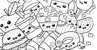 Colouring Pages Of Healthy And Unhealthy Foods Junk Food Coloring