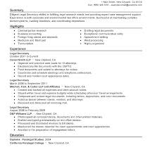 Legal Assistant Resume Samples Secretary Resume Templates Objective