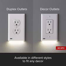 Snap Light Plates 4 Pack Snappower Guidelight 2 For Outlets New Version Led Light Bar Night Light Electrical Outlet Wall Plate With Led Night Lights