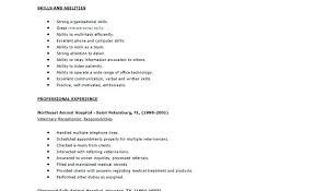 Veterinary Resume Fascinating Veterinary Receptionist Resumes Veterinary Receptionist Resume
