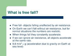 Free Fall Powerpoint Ppt What Is Free Fall Powerpoint Presentation Id 572974