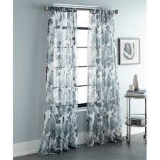 Teal Patterned Curtains New Teal Patterned Curtains Wayfair