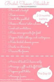 Bridal Shower Checklist Allfreediyweddings Com
