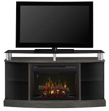 dimplex windham media console electric fireplace with 25 multi fire curved glass firebox for tvs up to 55 silver charcoal com