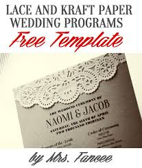 program template for wedding wedding program template mrs fancee