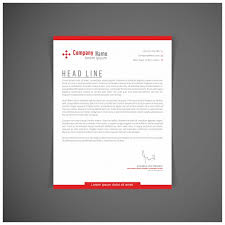 Red Letterhead Template Vector Free Download