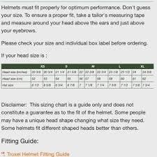 Equestrian Helmet Size Chart Troxel Equestrian Helmet