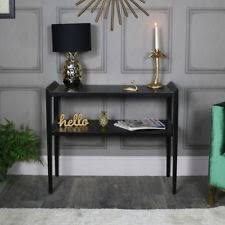 black hallway table. Long Rustic Black Console Sideboard Living Room Hallway Table Vintage Furniture