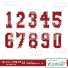 Upgrade to save unlimited icons. Varsity Numbers Free Svg Cut Files Clipart Set