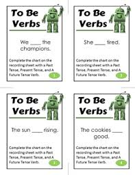 Be Verbs Chart State Of Being Verb Activity To Be Verbs