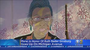 Polish your personal project or design with these mural transparent png images, make it even more personalized and more attractive. Ruth Bader Ginsburg Mural Goes Up On Michigan Avenue Cbs Chicago