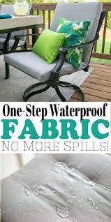 how to waterproof fabric waterproof