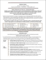 Sample Advertising Resume Gallery Creawizard Com