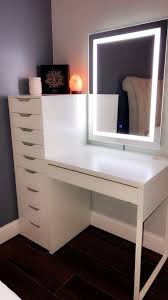 Lighted Desk Makeup Vanity With Lighted Mirror Room Decor Bedroom