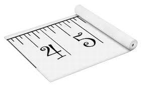 2 X 12 Foot Ruler Note Print Size May Vary 2 Yoga Mat