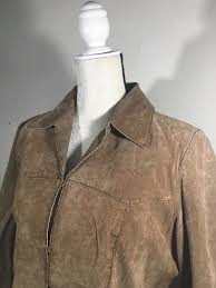 faded glory leather jacket women s size large l 12 14 brown free d