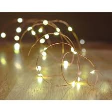 Battery Operated Indoor Lights Hampton Bay 16 Ft Battery Powered 25 Bulb Copper Wire Indoor Outdoor String Light