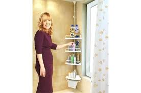 full size of tension pole corner shower caddy stainless steel zenna homer in chrome satin nickel
