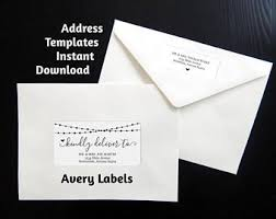 avery wedding templates printable calligraphy address template envelope label avery 2 etsy