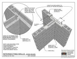 Concrete Block Lintel Design Little Space Bond Beam Block Blogit Top