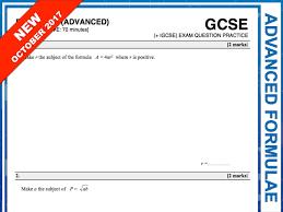 gcse 9 1 exam question practice advanced formulae
