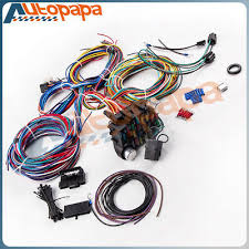 20 circuit wiring harness chevy mopar ford jeep hotrods universal deluxe 20 circuit wiring harness 21 circuit wiring harness for chevy mopar ford hotrod universal headlight