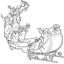 Santa Claus And Reindeer Coloring Pages Drawing Photo Shared By