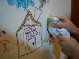 washable wall paintISAAC drawing on the wall using Crayola Washable Crayons  YouTube