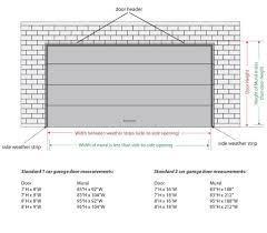 2 car garage door sizes standard wageuzi
