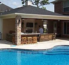 Nice Backyard Patios, Decks, Outdoor Kitchens And Pools | Bear Construction    Patio Covers   Outdoor Kitchens   Texas | Outdoor Kitchen | Pinterest |  Covered ... Awesome Ideas