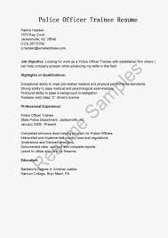 100 Sample Correctional Officer Resume 100 Police Officer