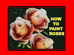 how to paint roses folk art one stroke luz angela s technique you