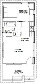 16x30 1 Bedroom House    #16X30H1    480 Sq Ft   Excellent Floor Plans