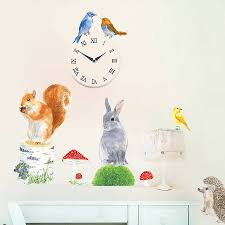 garden animals wall sticker