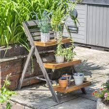 potting tables outdoor plant shelves