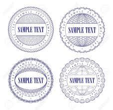 Набор векторных гильоше синий печать шаблон для валюты  Набор векторных гильоше синий печать шаблон для валюты сертификат или дипломы векторные иллюстрации