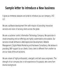 Company Introduction Letter Format Cover For Awesome Resume