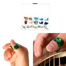 5 <b>Thumb</b> + 10 <b>Finger</b> Nail <b>Guitar Picks Celluloid</b> Bass Banjo ...