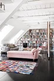 White Attic Library Design