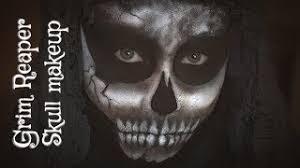 grim reaper skull easy makeup vasty pearson
