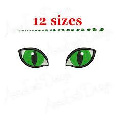 Eyes Embroidery Design Cat Eyes Embroidery Design Cat Eyes Mini Machine