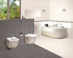 Full Size of Bathroom:black Bathroom Floor Tiles White Tiles Classic Black  And White Bathroom ...