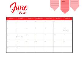 Calendar 2019 Printable With Holidays June 2019 Holidays Calendar Calendar 2018