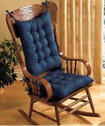 wooden rocking chair with cushion. Unique Rocking PADDED ROCKING CHAIR CUSHION SET  BLUE With Wooden Rocking Chair Cushion N