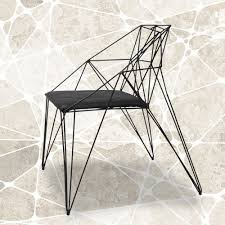 modern minimalist furniture. Pierced Black Wrought Iron Chairs White Modern Minimalist Reception To Discuss Creative Furniture